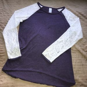 Tops - Laced Long Sleeve Top